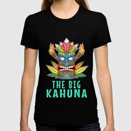 Tiki Gift Design Hawaiian The Big Kahuna Island Print T-shirt