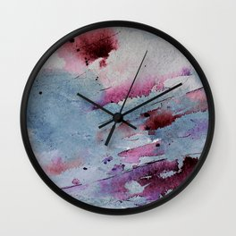 Remains of elderberry soup Wall Clock