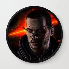 Renegade Commander John Shepard Wall Clock