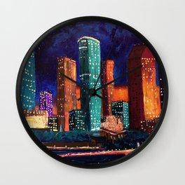 Expression Houston Wall Clock