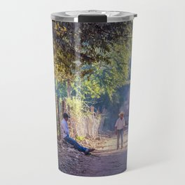 Quiet Mexico Road Afternoon, Cooper Canyons Travel Mug