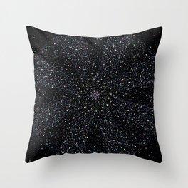 Magic Night Glitter Mandala I. Throw Pillow