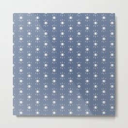 Eye Pattern in Blue Metal Print
