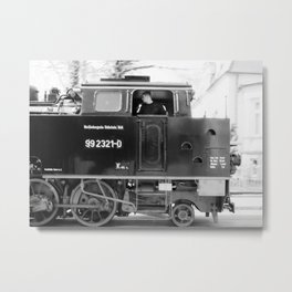 Driving a steam locomotive Metal Print