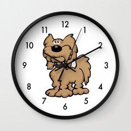 Labradoodle Dog Cartoon Wall Clock