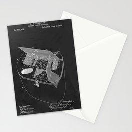 Vintage Fishing Basket Creel Patent Stationery Cards