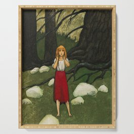 Adalmiina In The Woods By Rudolf Koivu                  Serving Tray