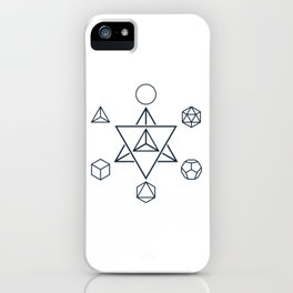 Merkaba and the Platonic Solids, Sacred Geometry iPhone Case