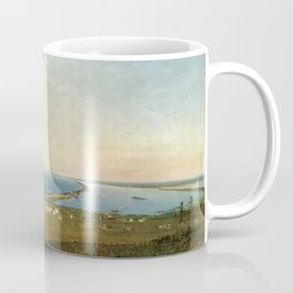 'Coastal Scene and Tidal Ponds' landscape by Gilbert Munger Coffee Mug