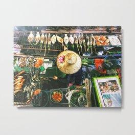 Bangkok Street Food Metal Print