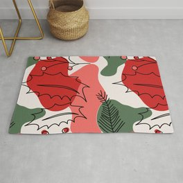 Christmas Holly Berries Rug