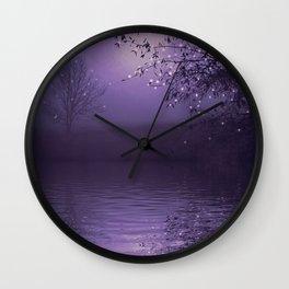 SONG OF THE NIGHTBIRD - LAVENDER Wall Clock