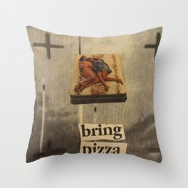 PIZZA SHIRT Throw Pillow