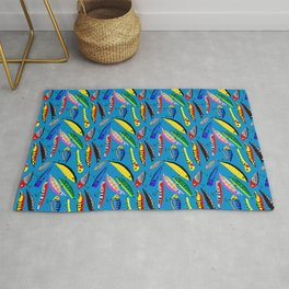 Colourful lures Rug