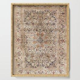 Silk Esfahan Persian Carpet Print Serving Tray