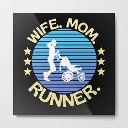 Wife Mom Runner Metal Print