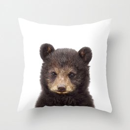 Baby Bear, Baby Animals Art Print By Synplus Throw Pillow