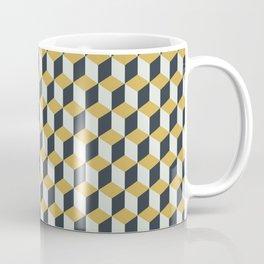Making Marks Cube Illusion Blue Coffee Mug