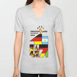 DEUTSCHLAND WELTMEISTER 2014. GERMANY WORLD CHAMPIONS 2014 Unisex V-Neck