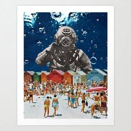 Diver's Delight Art Print
