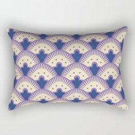 Fan Pattern Lavender and Blue 991 Rectangular Pillow