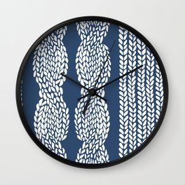 Cable Row Navy 1 Wall Clock