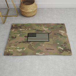U.S. Flag: Woodland Camouflage Rug