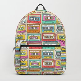 Nostalgia Audio Music Mix Cassette Tape Backpack