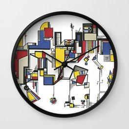 Mondrian City Wall Clock