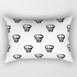 Basketball Motif Print Pattern Rectangular Pillow