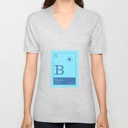 Periodic Elements - 5 Boron (B) Unisex V-Neck
