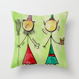 """#cagsticks """"The witch and the Elf"""" Throw Pillow"""