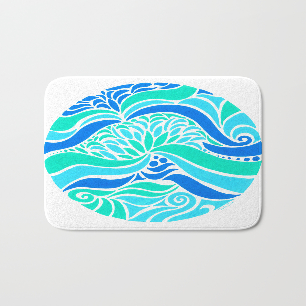 Makin Waves :: Color Therapy Collection :: Bath Mat by Kieshajean BMT7752970