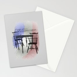 Empty Chairs at Empty Tables Stationery Cards