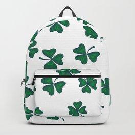 Retro Vintage St Patricks Day Green Shamrock Clover Backpack