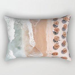 Aerial Beach Print, Beach Photography, Aerial Photography, Blue Ocean Print, Sea Beach Print Rectangular Pillow