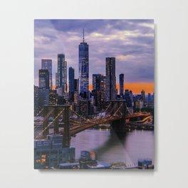 New York City // Retro 86 Metal Print