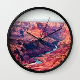 Grand Canyon Park USA Arizona Nature canyons Scenery river Canyon landscape photography Rivers Wall Clock