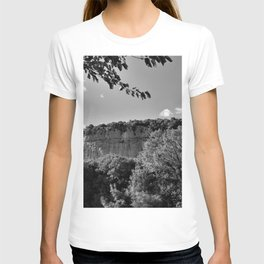 rock cliff at lim channel fjord istria croatia europe black white T-shirt