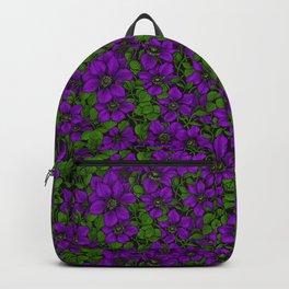 Purple Clematis vine Backpack
