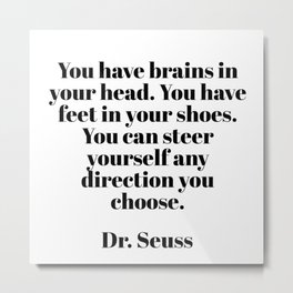 you can steer yourself in any direction Metal Print