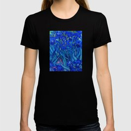 Van Gogh Irises in Indigo T-shirt
