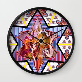*Rissing Stars* Wall Clock