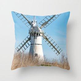 Thurne Mill, Norfolk Throw Pillow