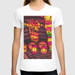 Dragon lanterns at Nagasaki Lantern Festival | Neon Japan T-shirt