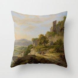 Daniël Dupre - Gezicht op Civita Castellana Throw Pillow
