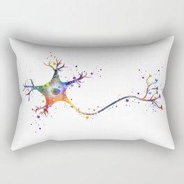 Neuron Art Brain Cell Biology Art Watercolor Neurology Medical Science Art Biology Gift Rectangular Pillow