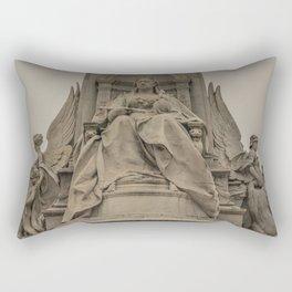 Palace Views Victoria Monument London England Rectangular Pillow