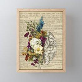 medical floral brain Framed Mini Art Print