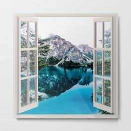 Lake Scenic Landscape   OPEN WINDOW ART Metal Print
